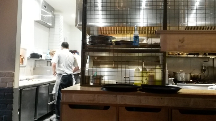 The open kitchens add to the atmosphere