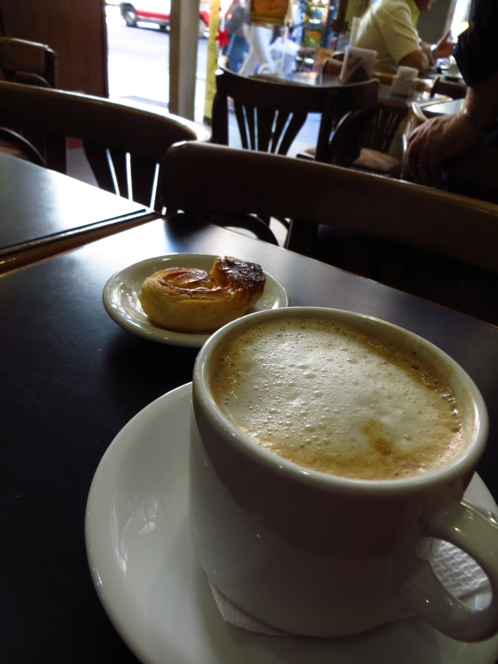 Coffee and pastry in Buenos Aires - think this was a cortado