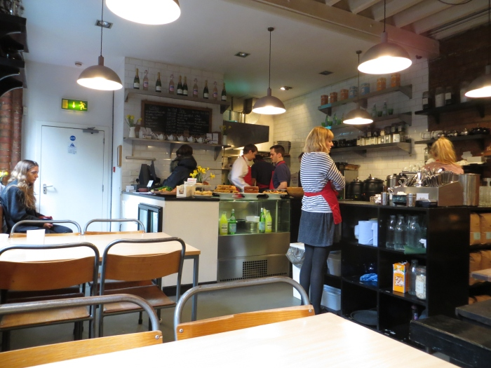 Despite its back alley location, the cafe had a fresh, clean and bright feel to it