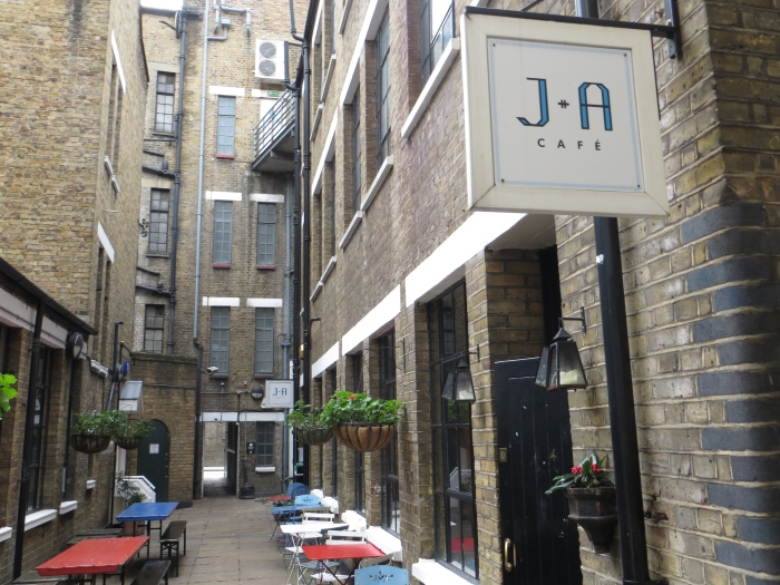 Tucked away down a back alley of Clerkenwell Road in J+A Cafe