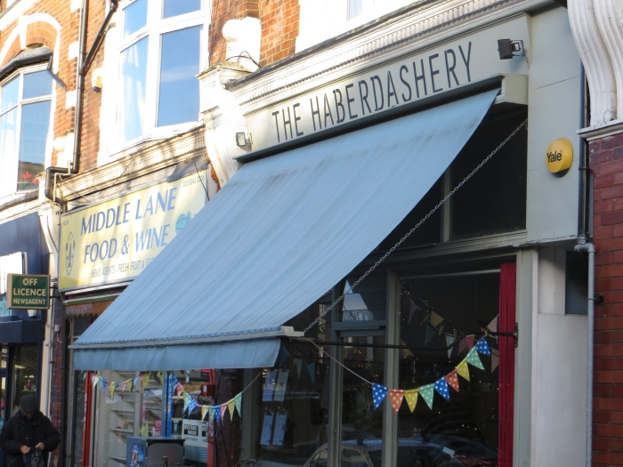 The Haberdashery with its signature bunting