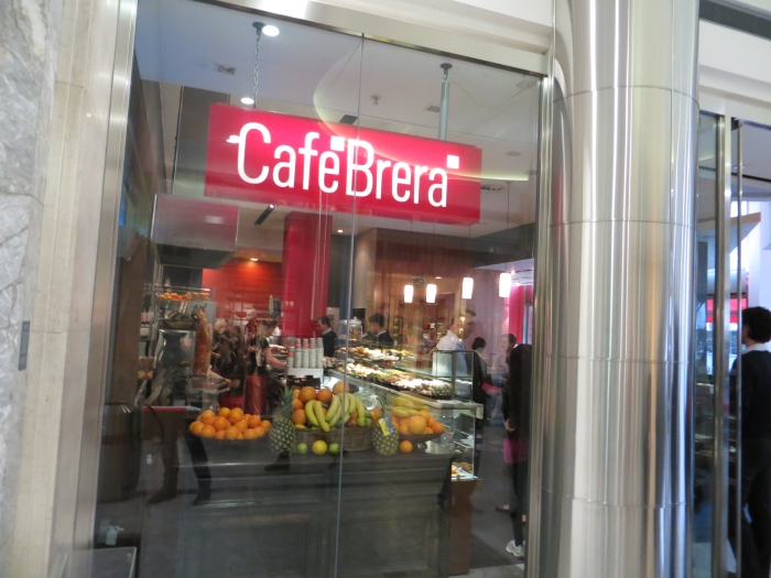 Cafe Brera was the first cafe in Canary Wharf