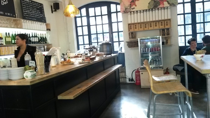 Its clean and airy interior is a contrast to Camden's down and dirty atmosphere