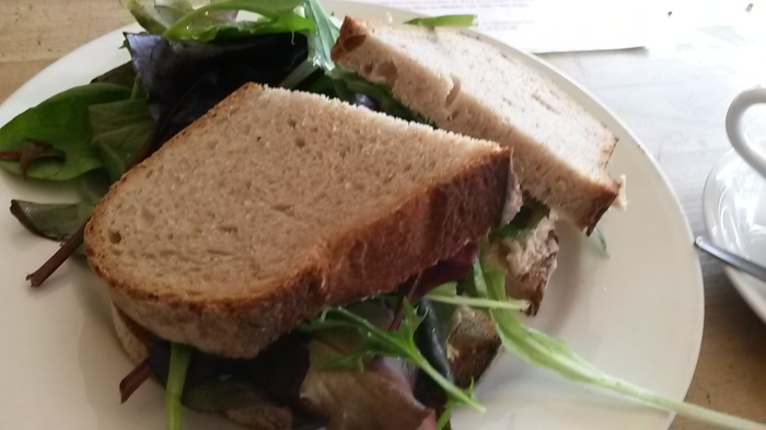 A good sandwich with a bit of a lacklustre side salad