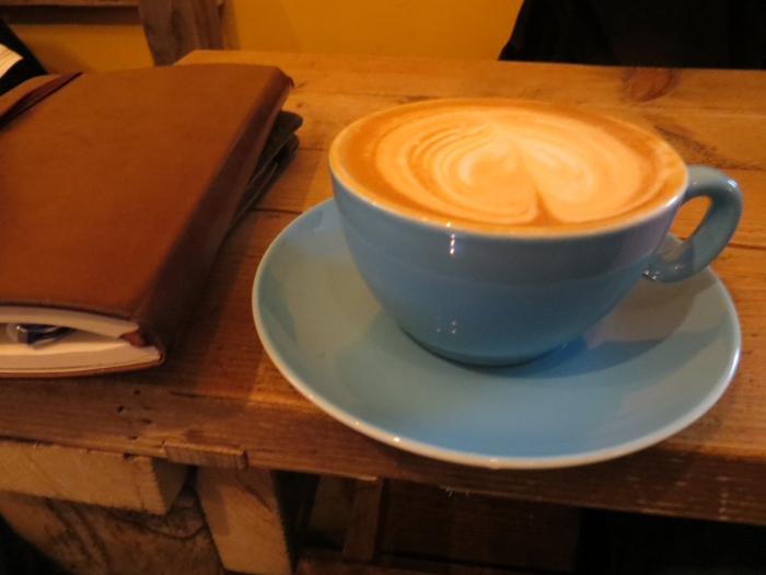 Cappuccino with my trusty note book