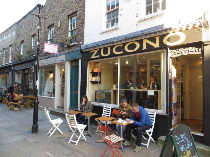 Tucked away on Camden Passage is a number of smaller cafes and restaurants