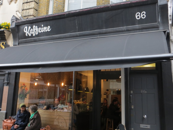 Just two minutes from Oxford Circus is Kaffeine