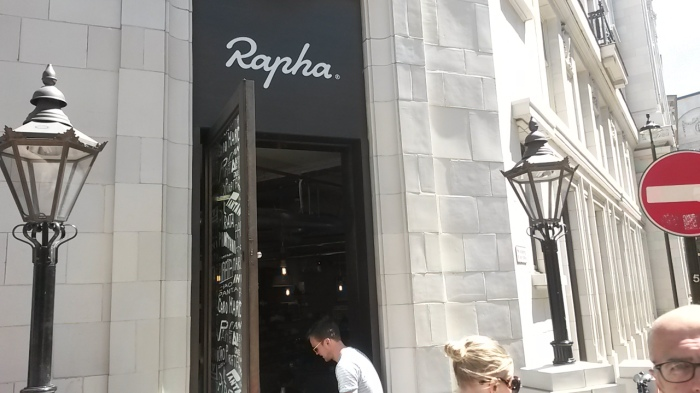 Rapha has a rather nice windowed area opening out into Soho