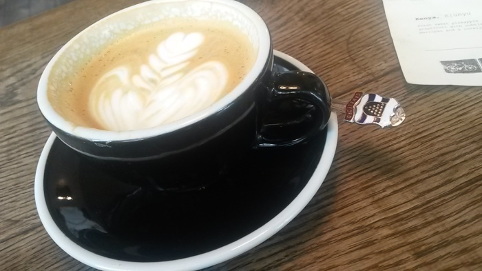 Tap's excellent cappuccino