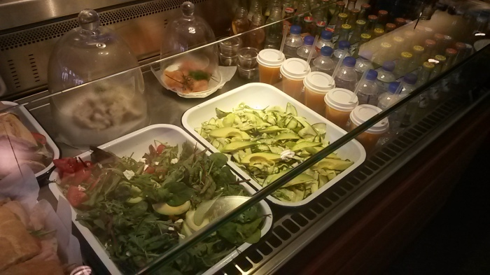 A good selection of salads